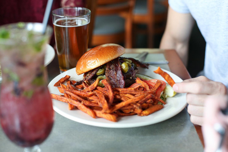 Interurban Honey Pepper Bacon Burger
