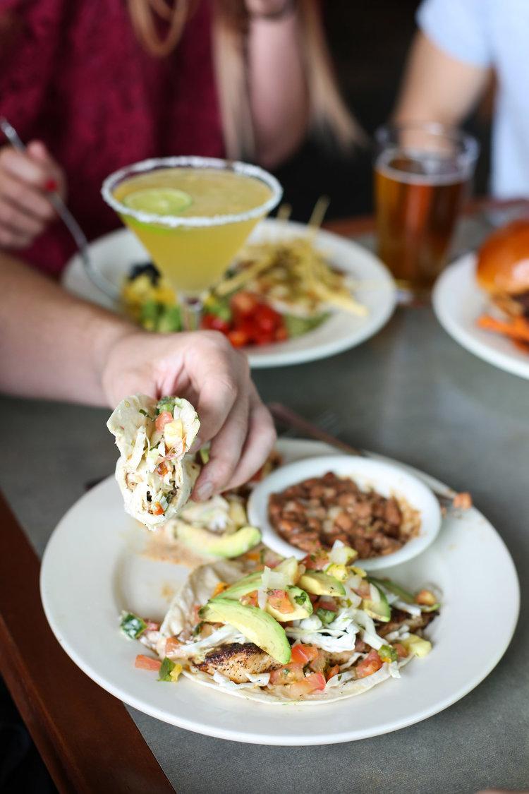 Brett's Famous Grilled Fish Tacos at Interurban Restaurants