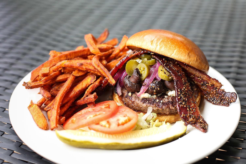 Interurban OKC Restaurant's famous burger