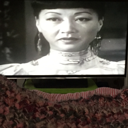 A picture of Anna May Wong, taken by yours truly in a state of bed rest.