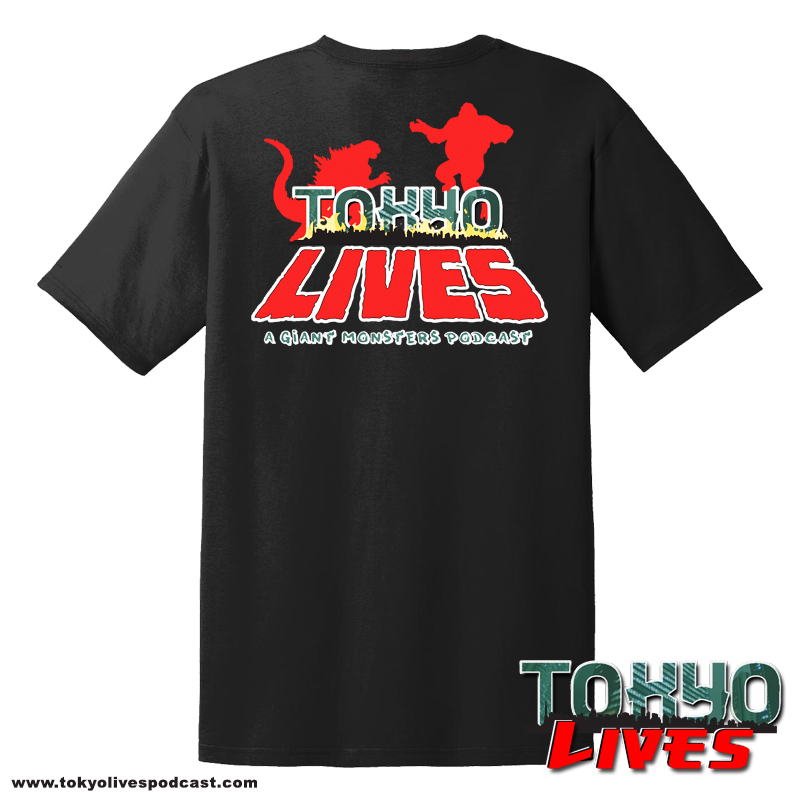 This one of a kind t-shirt brazenly displays the Tokyo Lives: A Giant Monsters Podcast logo across the chest. Whether you're a long time fan or a first time listener, kaiju fans will go crazy when they see you walking down the street in this comfortable, fitted mark of your allegiance.