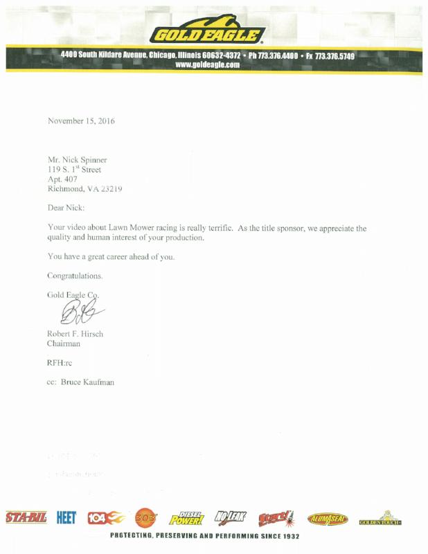 Gold Eagle Letter