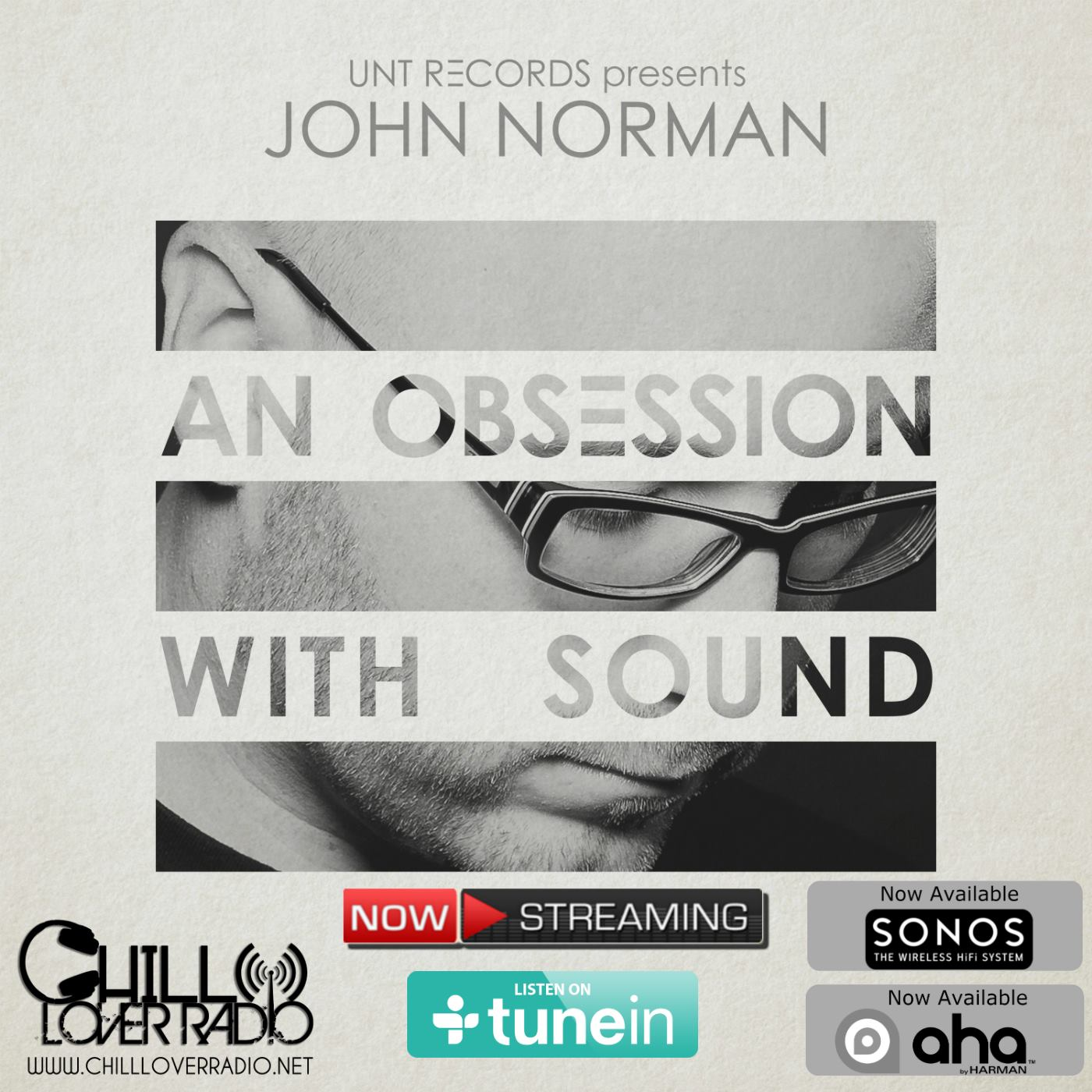 An Obsession With Sound is now partnering with Chill Lover Radio out of New York City -- the show airs Thursdays at 7pm EST. Streaming via the Chillloverradio.net website, tunein app, SONOS, aha app & more.