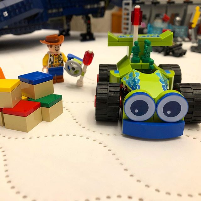 Aaron's been looking forward to seeing the new Toy Story 4 movie and is working on some Toy Story Lego! • • • • • • • • • • • • • • • • • • • • • #toystory4 #toystory #woody #pixar #edmonton #yeggers #yeglife #yegliving #doitfortheprocess #builder #racecar #legolife #lego #lego_hub #legofan #passion #entrepreneur #autismawareness #createeveryday #green #skill #happysunday #sunday #workinghard #wip #loveit #alberta #etsyseller