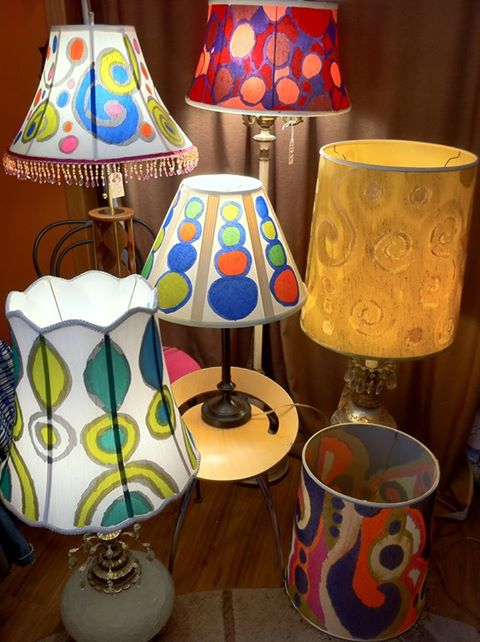 Hand painted lamp shades