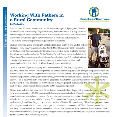 Working With Fathers in a Rural Community    By Zach Allen