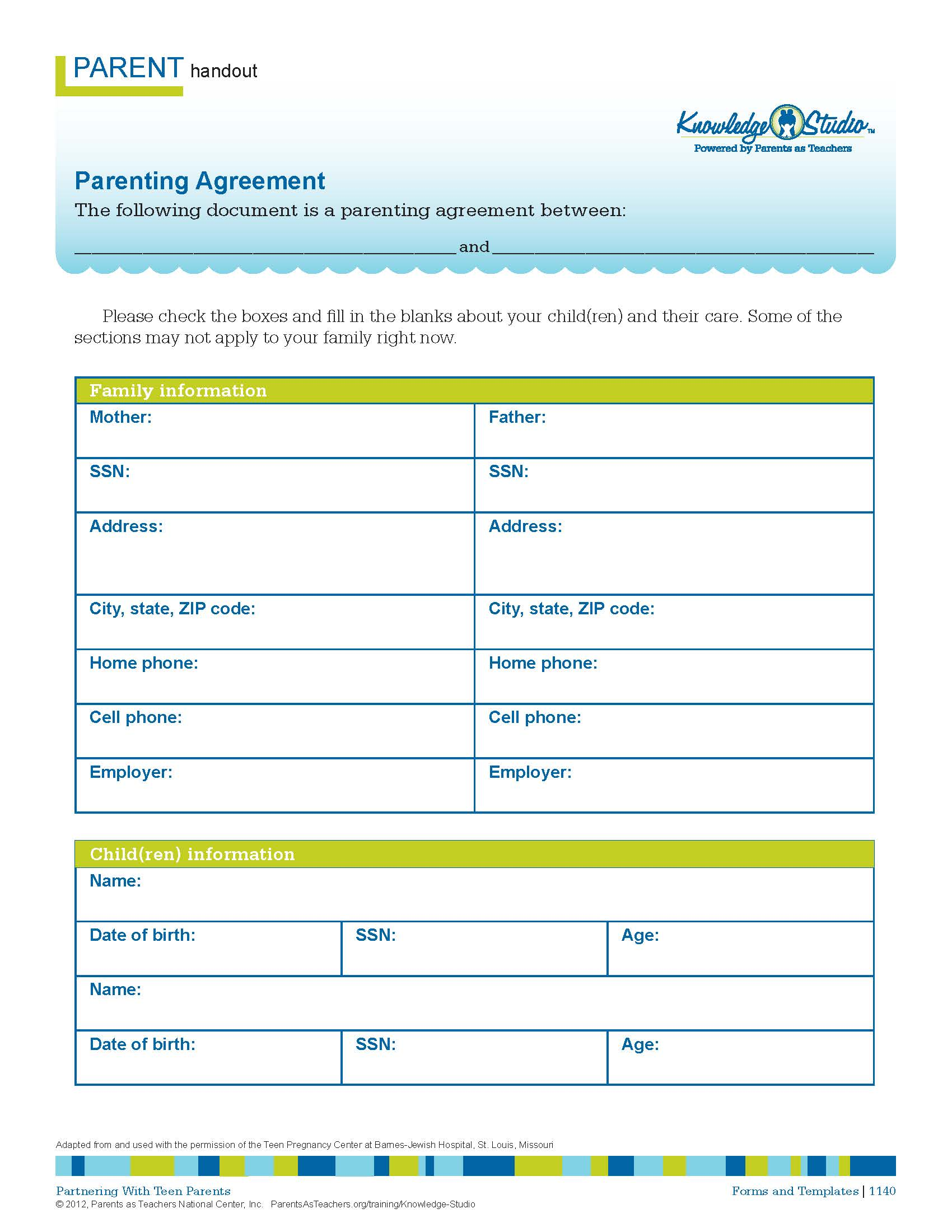 Parenting Agreement