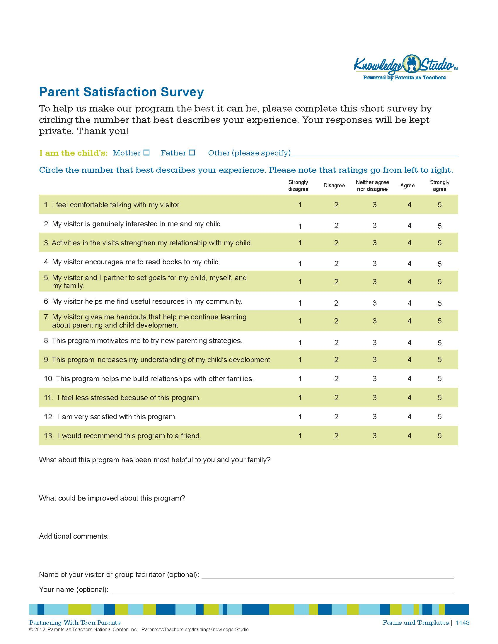 Parent Satisfaction Survey