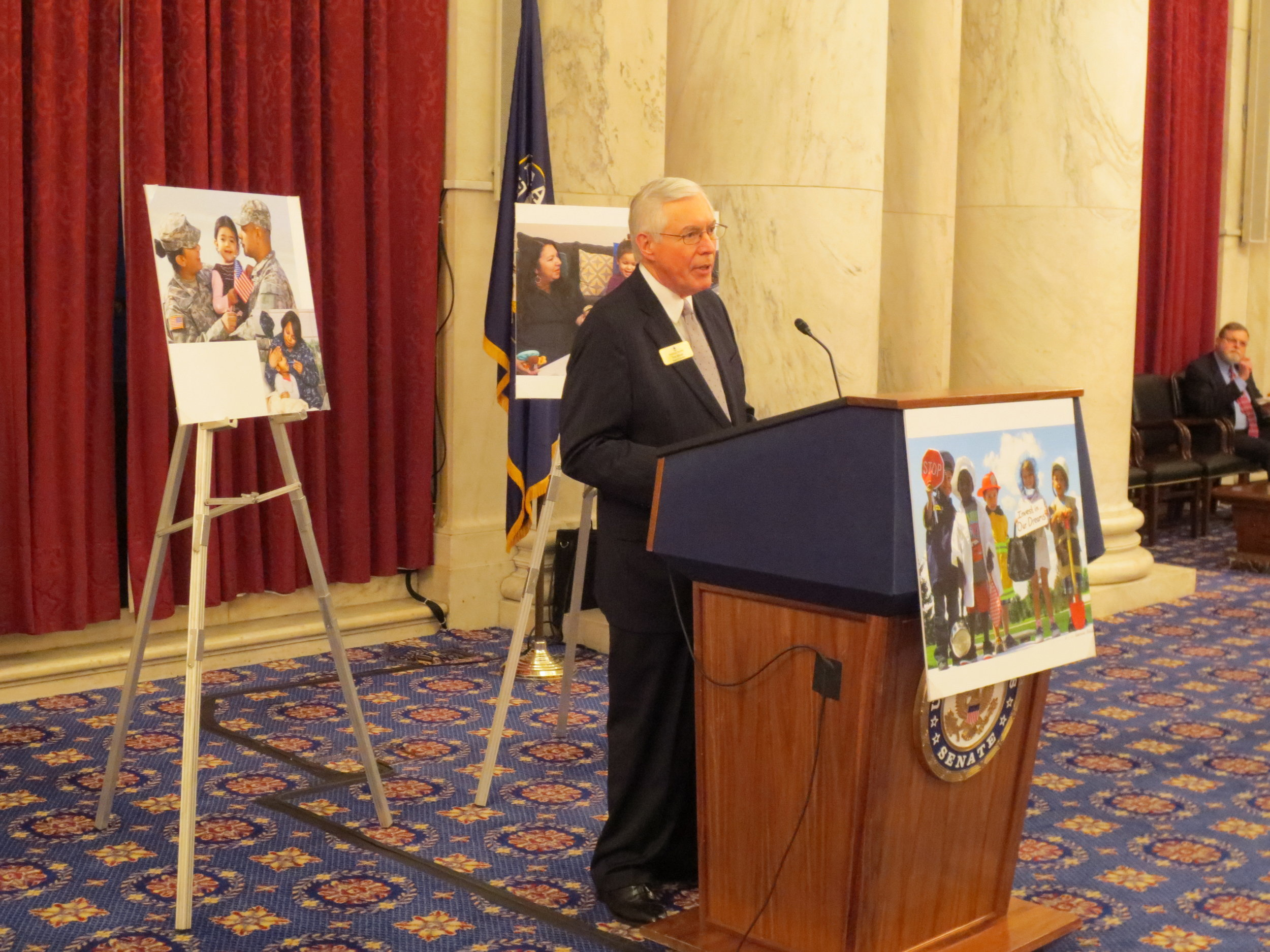 Board Chair Thomas Melzer speaks at Washington, D.C. Board Reception.