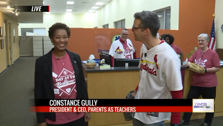 Parents as Teachers President/CEO Constance Gully was spotlighted on FOX 2 News in the Morning (Tim Ezell's Show)