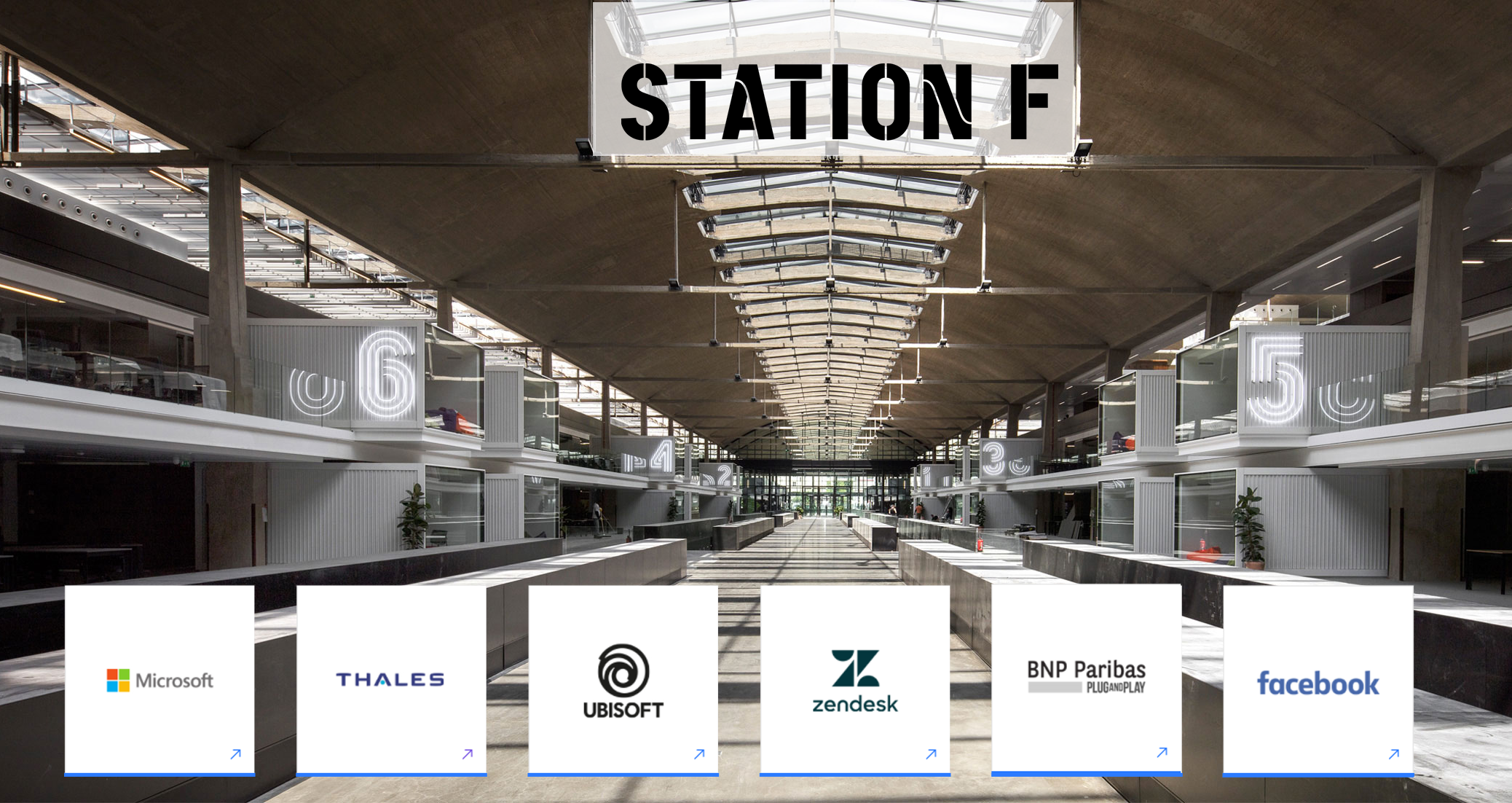 Station F  is the biggest startup campus in the world, backed by Xavier Niel and located in Paris.