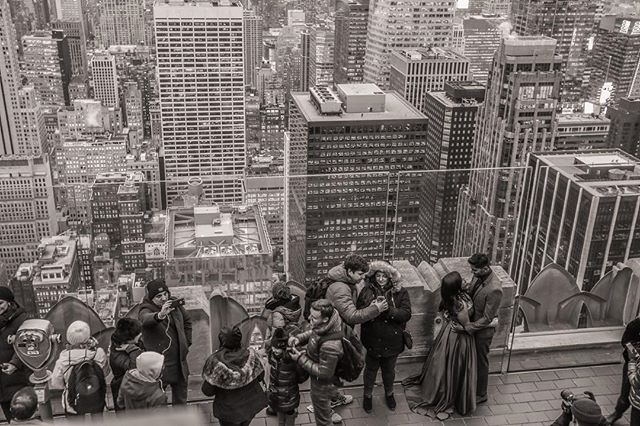 Love and selfies // #socialdocumentary #topoftherock #nyc #views #city #photography