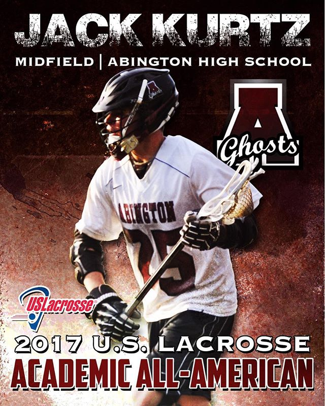 Proud to congratulate Jack Kurtz on being named as a 2017 @uslacrosse Academic All-American! Jack will be attending @dartmouthcollege in the fall!