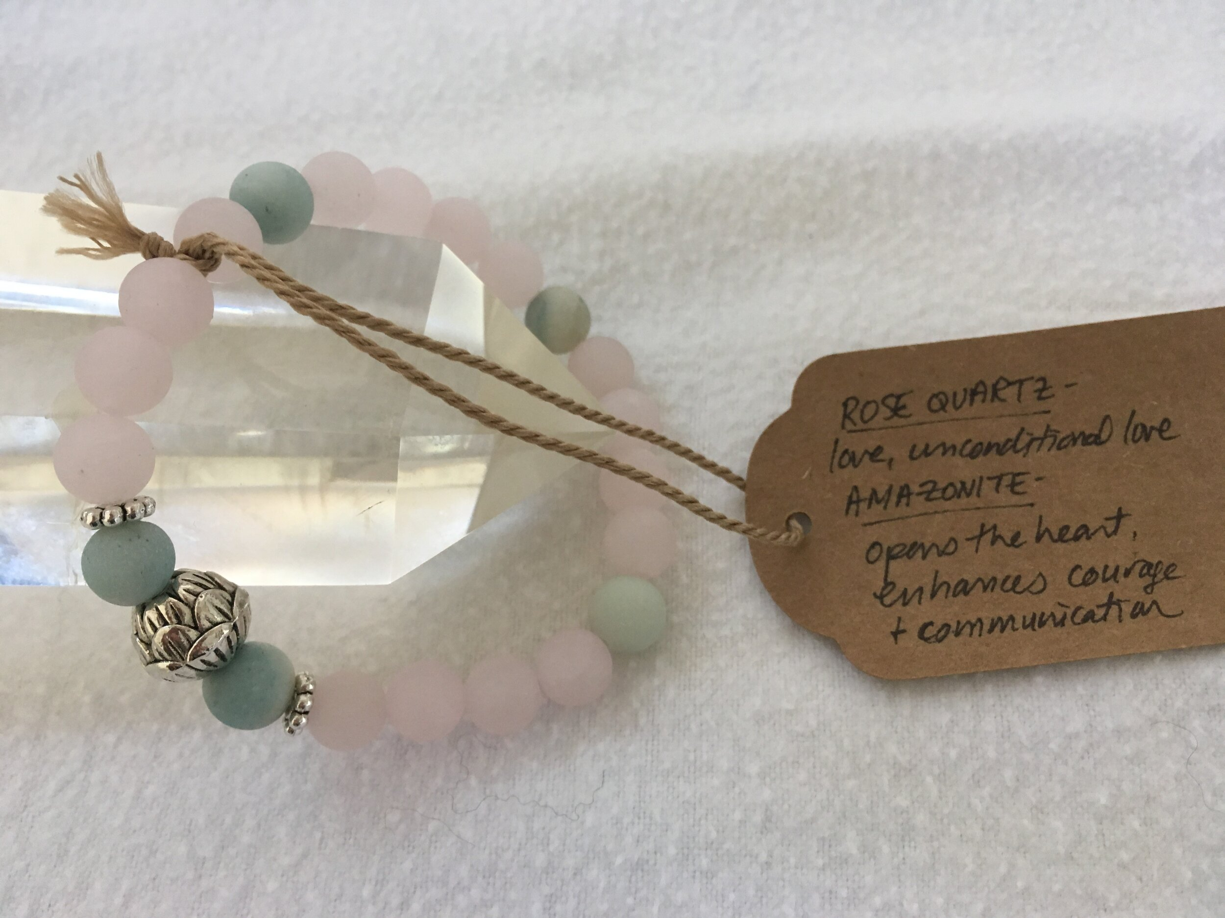 Amazonite and rose quartz