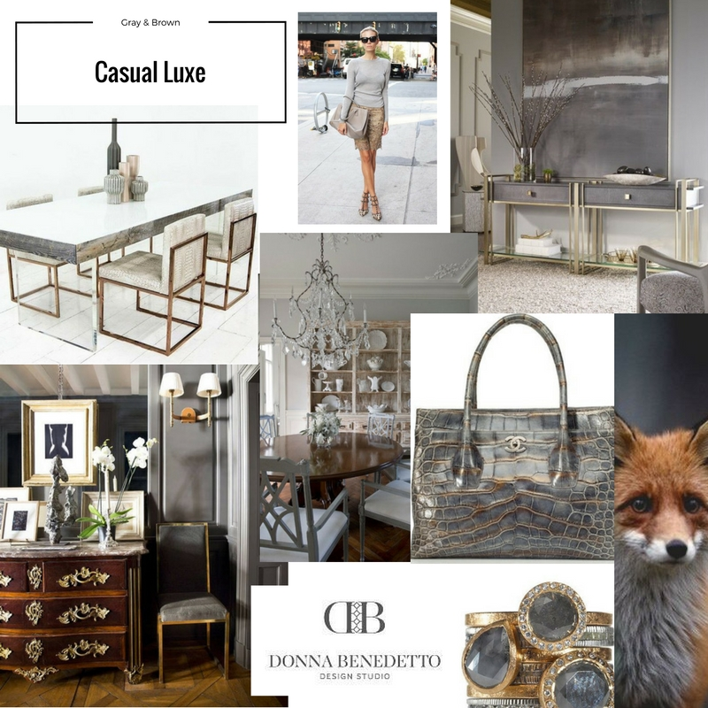 Casual Luxe Inspiration board for a new clients family room. Love the mix of this palette, it blends both warm and cool colors and feels modern, warm, inviting yet luxurious. Stay tuned for the finished room!