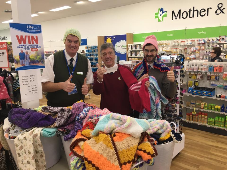 Michael O'Reilly Pharmacy's Knitting Angels Support Country Hope