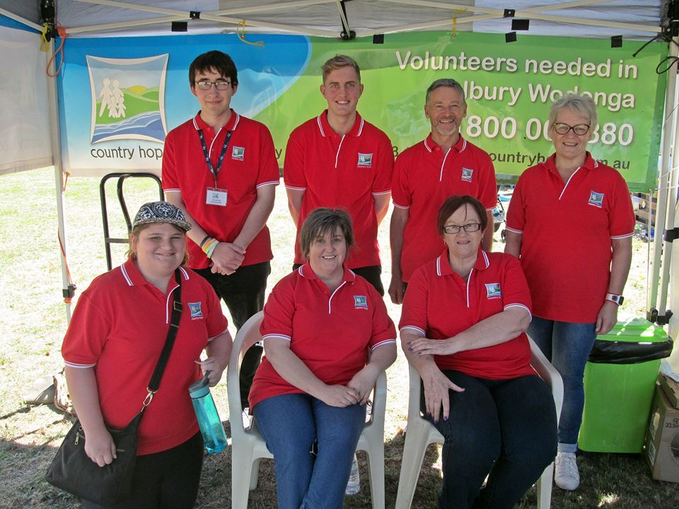 Some of the wonderful Country Hope volunteers to made it all happen on the day.  Thank you to all of the volunteers to helped over the show weekend!