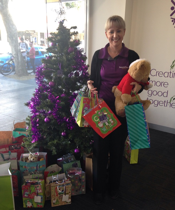 One of the wonderful Beyond Bank Team very excited to be launching the 2017 Christmas Appeal. www.beyondbank.com.au