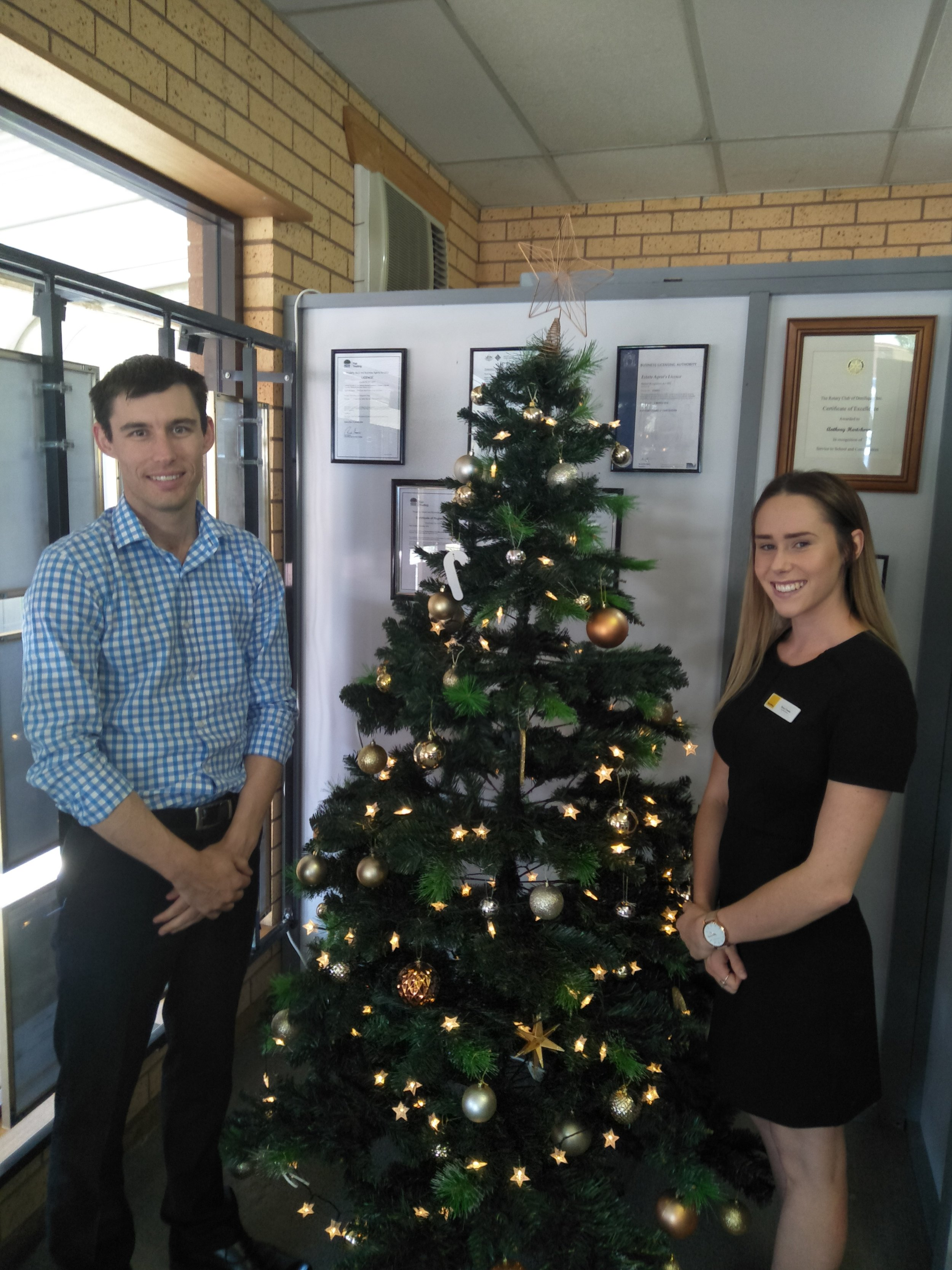 Pictured above: Anthony Hartshorn and Romee Thwaites from Ray White Howlong