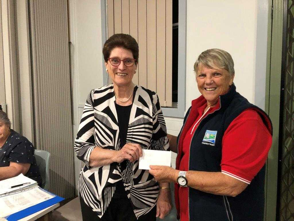 President Mrs Gaynor Clemments presented a donation of $5,000.jpg