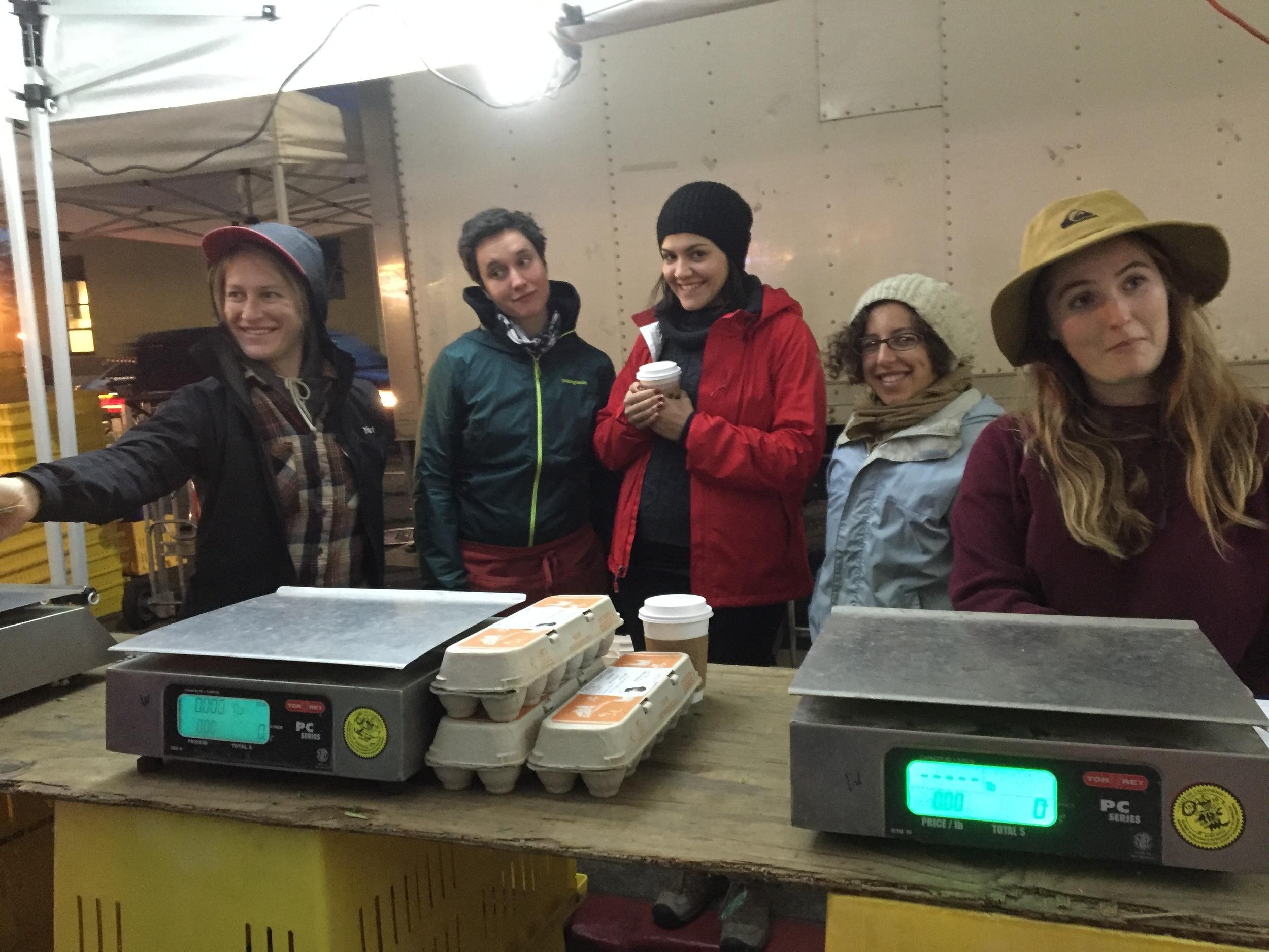 Thursday market crew, there rain or shine!