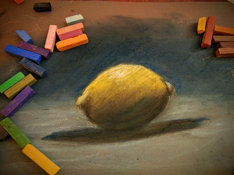 lemon in pastels