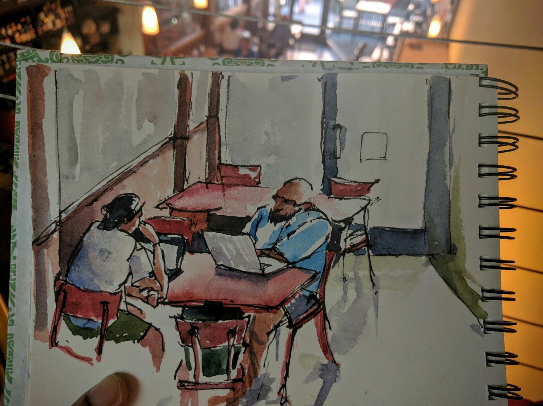 cafe frascati sketch