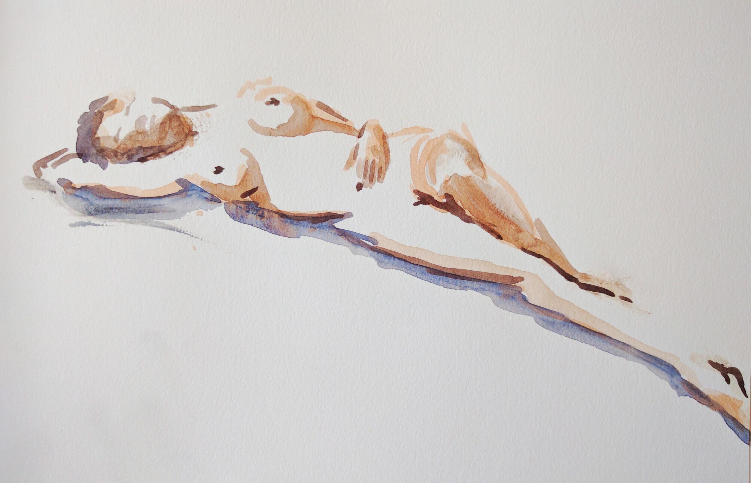 watercolor gesture sketch