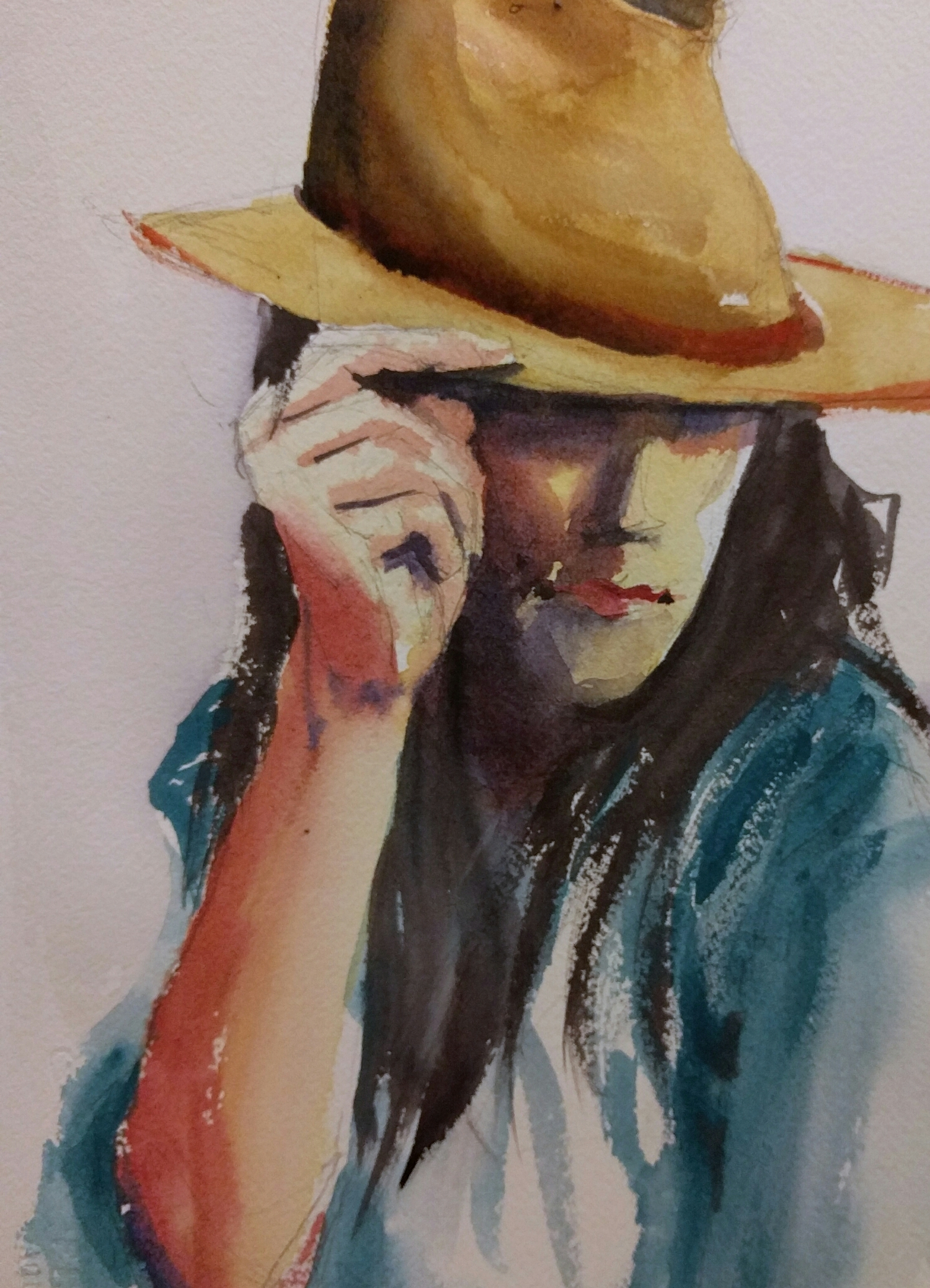 woman in watercolor