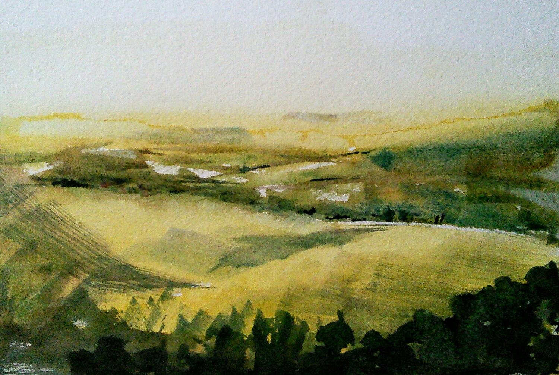 abstract landscape impresasion