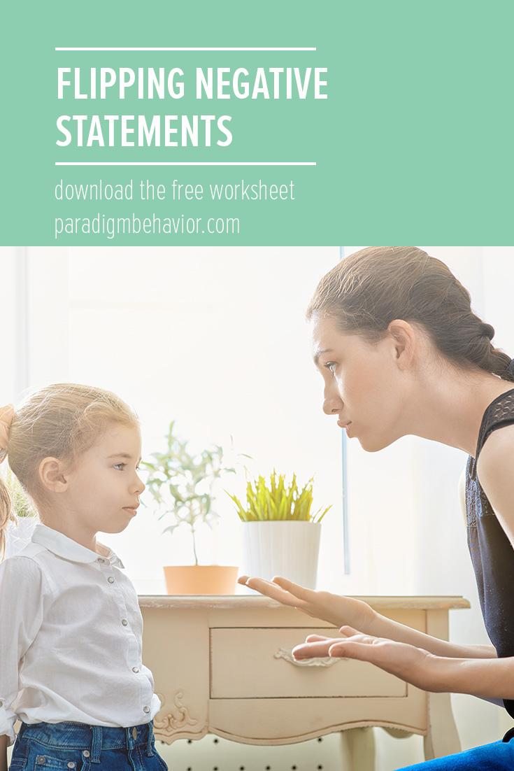 flipping negative statements