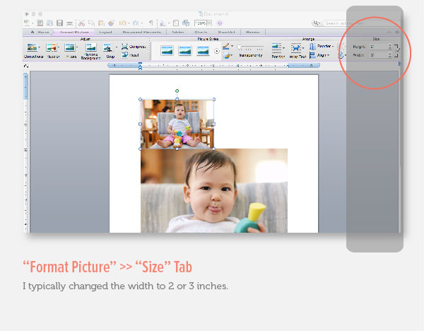 Resize Photo in Microsoft Word