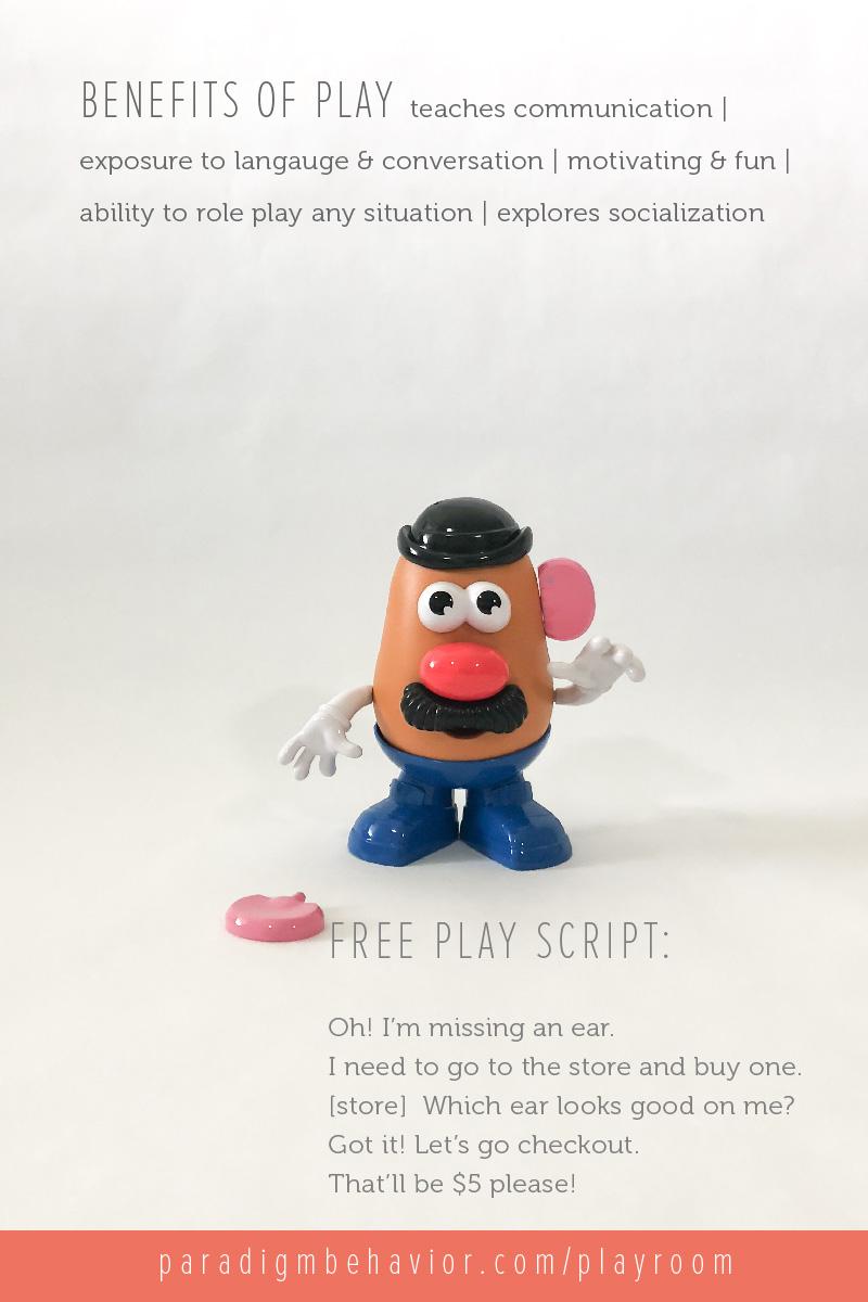 Mr Potato Head Play Script