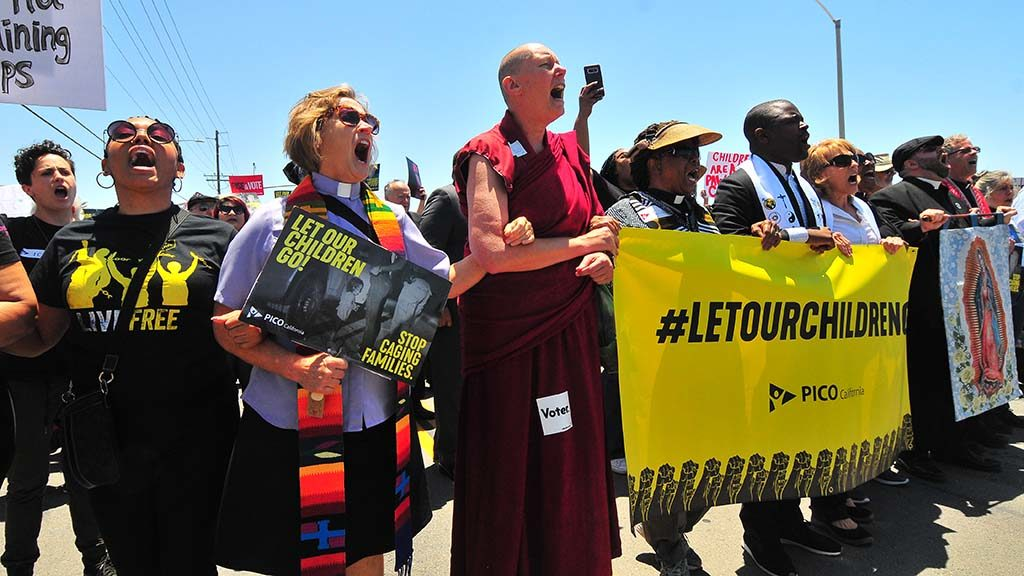 ACT Faith Leaders Protest at the Border