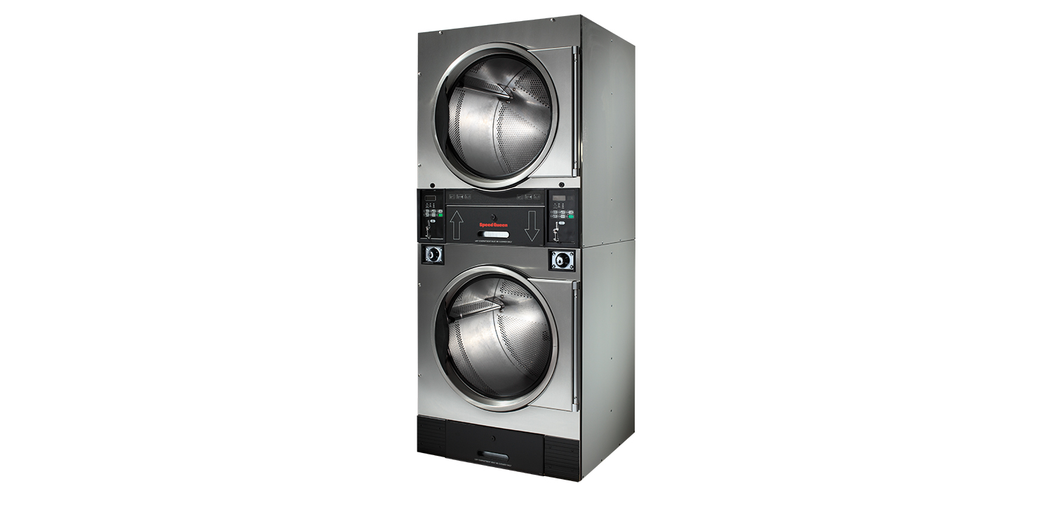 Vended Coin Operated Stack Tumble Dryers