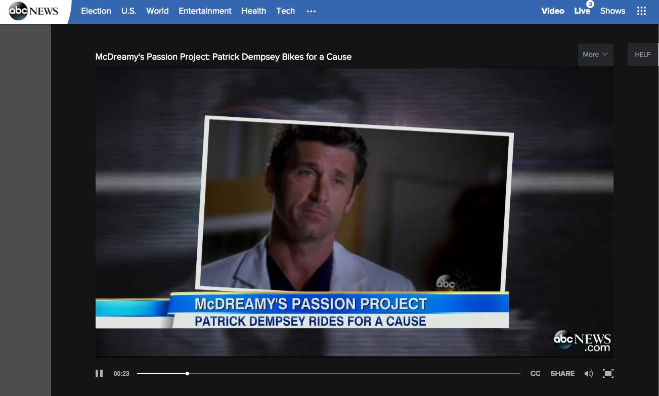 Feature: Patrick Dempsey Center, GMA