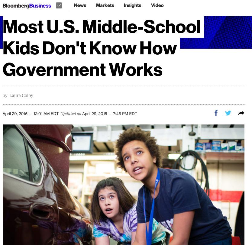 News: iCivics, Bloomberg