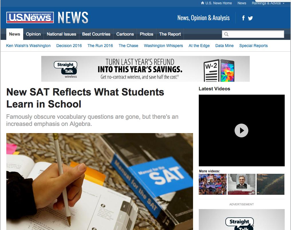 News: Zinc Education, U.S. News