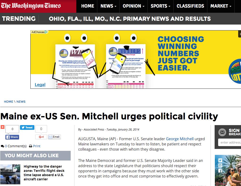 News: Sen. George Mitchell Institute, Associated Press