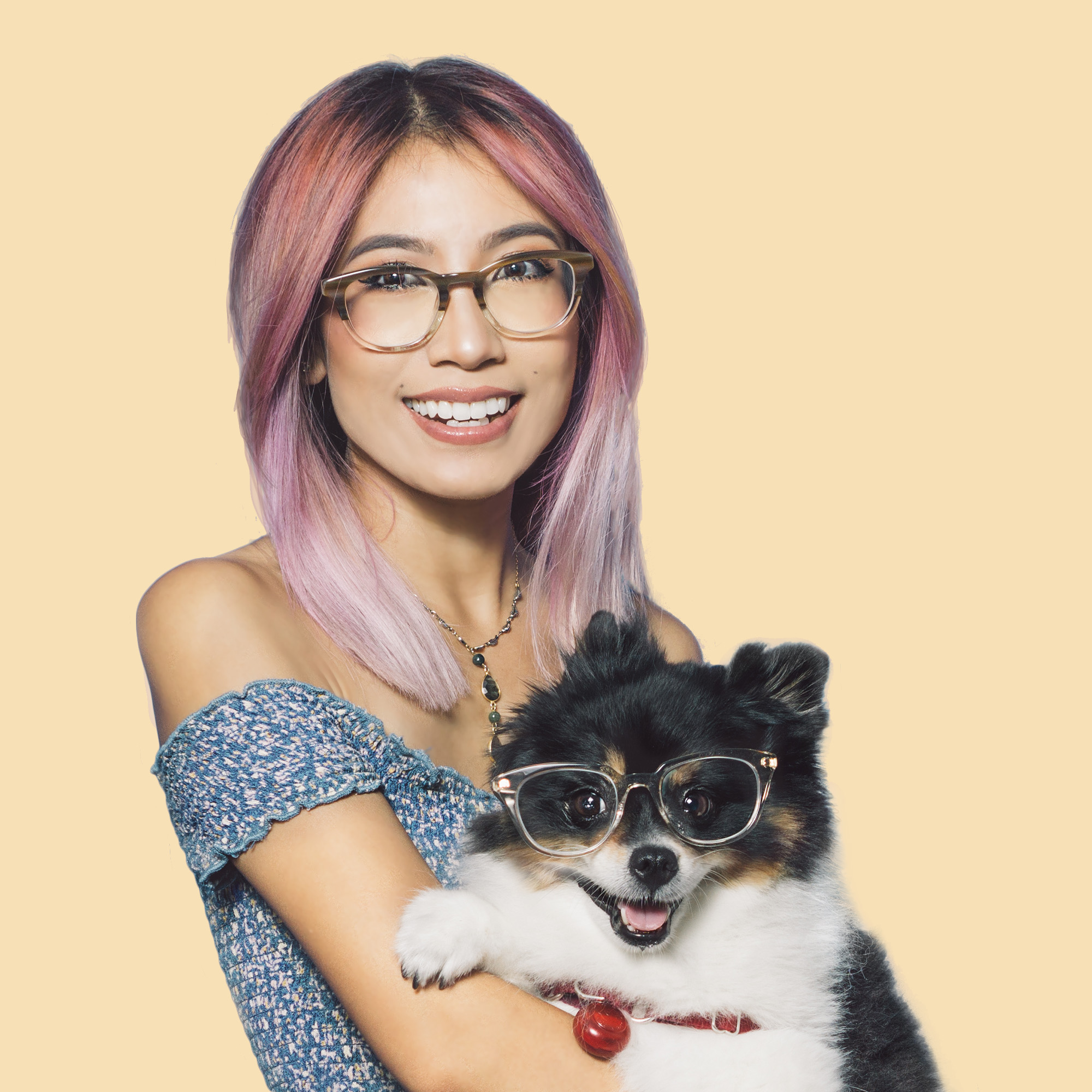 Sharing the eyewear love with our pup, Layla!
