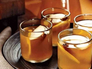 Good Sippin' - Apple-Brandy Hot Toddy recipe borrowed from Food & Wine.