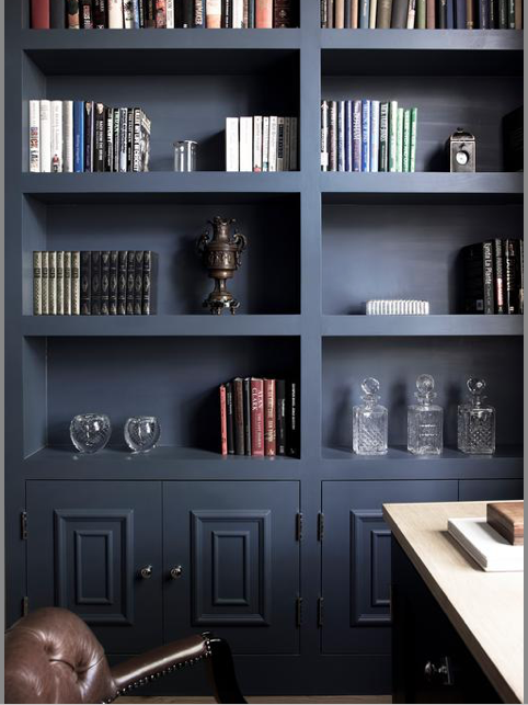 1. Painted Cabinets in bold colors