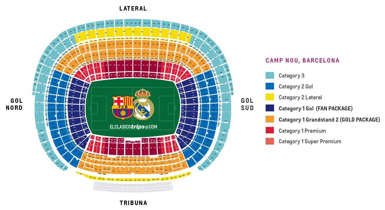 El Clasico 2019 - FC Barcelona vs Real Madrid - Seating Chart