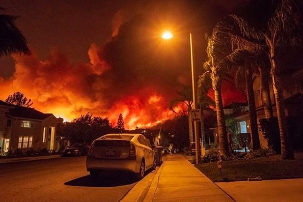 Thanks for all the messages. So sorry for everyone going through this insanity right now. Austin was evacuated though the winds changed and Topanga was not affected. Our thoughts are with all the firefighters and people directly affected by the fires please swipe the links in story to donate #woolseyfire #woolsey