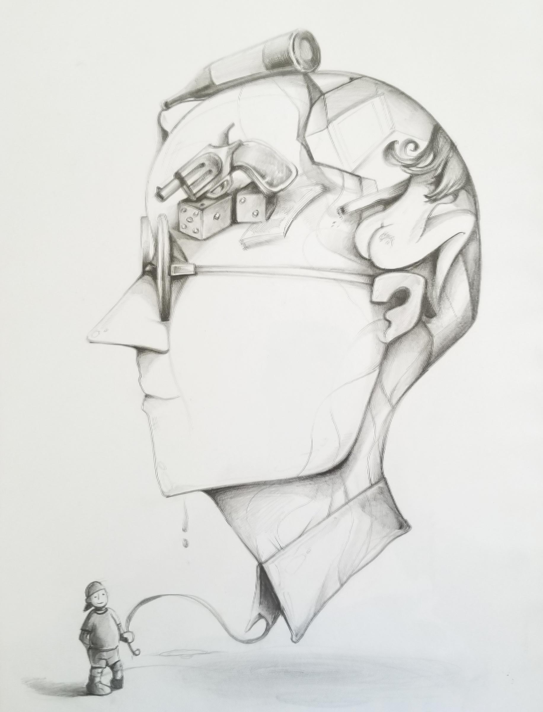 """Temptations"" / Graphite pencil on paper / 11 x 14"