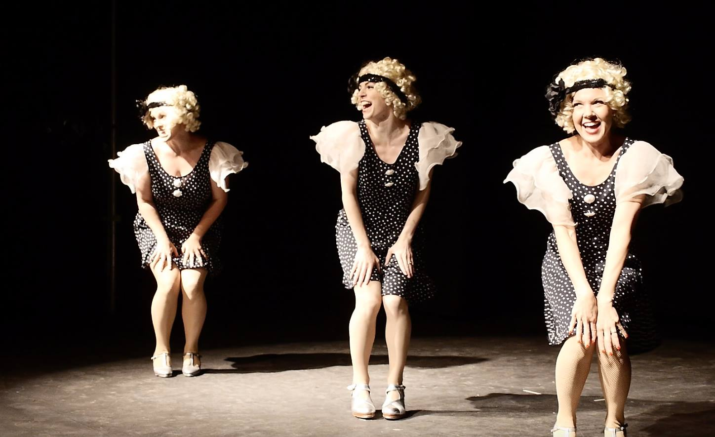 Performing with  Vintage Taps in  Vaudeville Revue .  Courtesy of Bygone Theatre