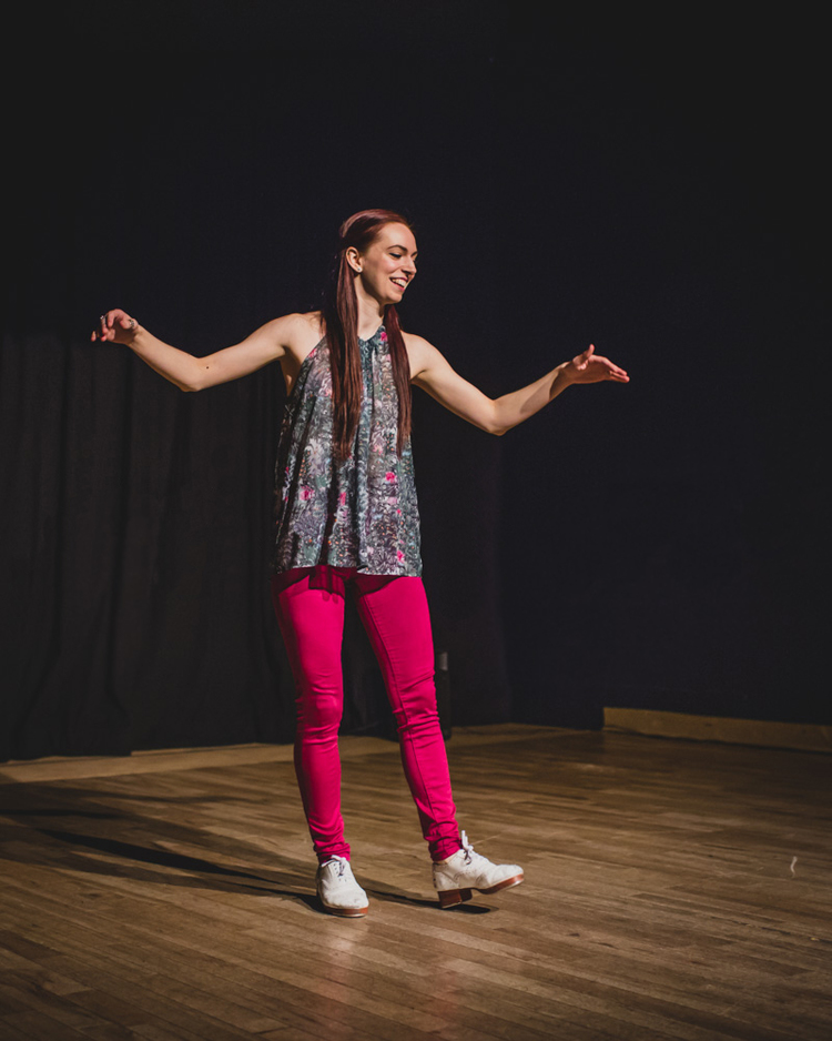 """""""Fitzpleasure"""" performed at  Tap Dance Centre's Solo/Duet/Trio Show  Courtesy of  Andy Yu Photography"""