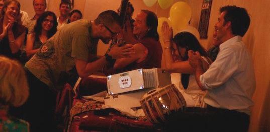 Performing with MC Yogi