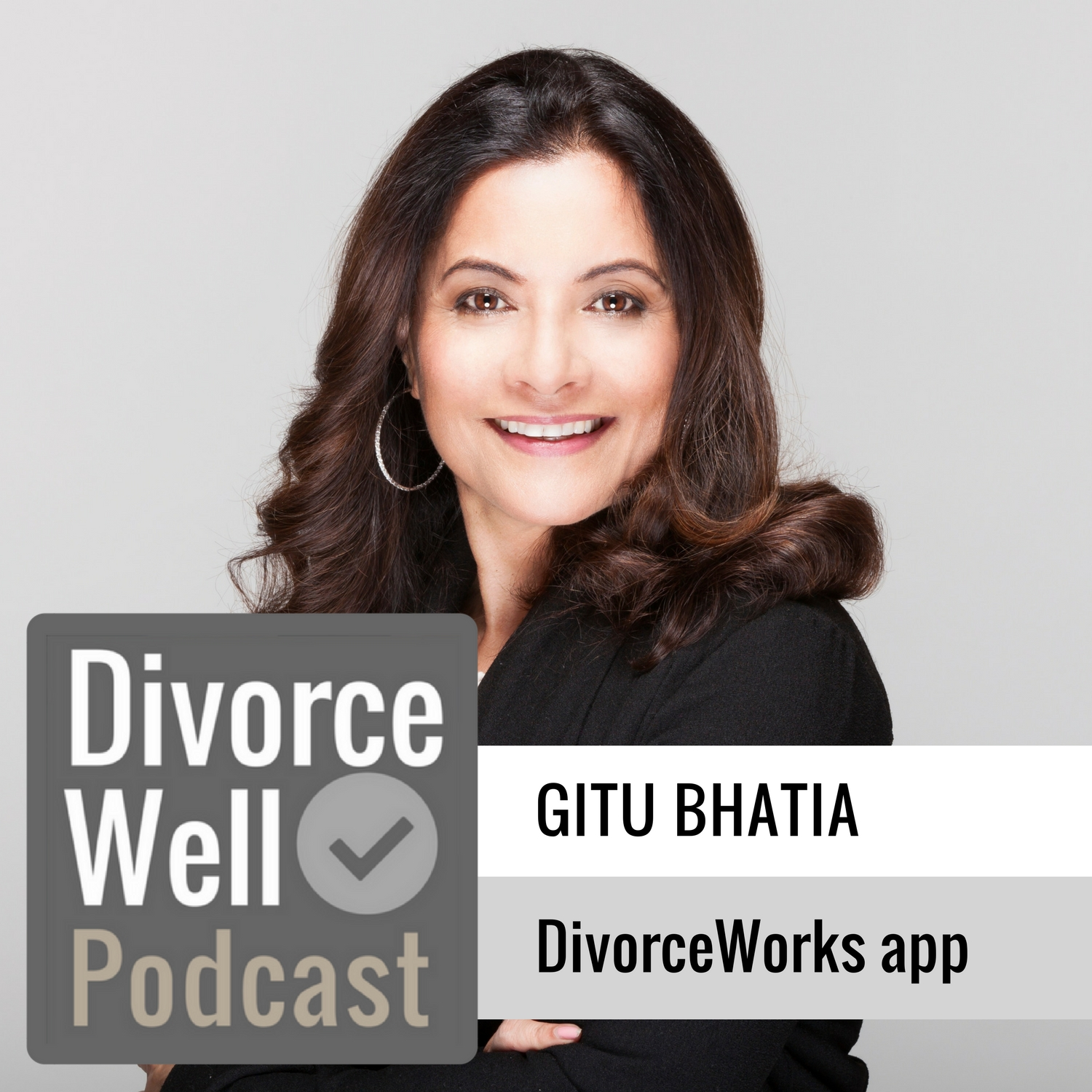 Gitu Bhatia on the Divorce Well Podcast about the DivorceWorks app for managing emotions