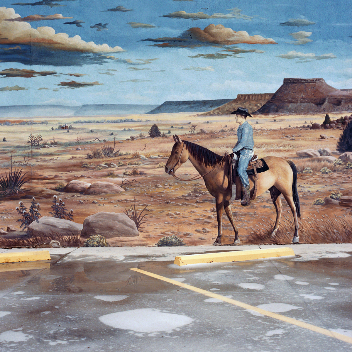 Valerie Chiang, Cowboy Mural, 2015
